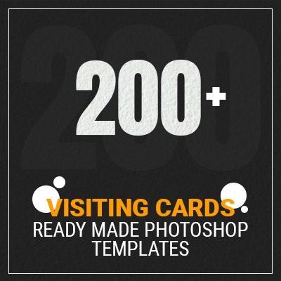 200 PSD Visitng Cards